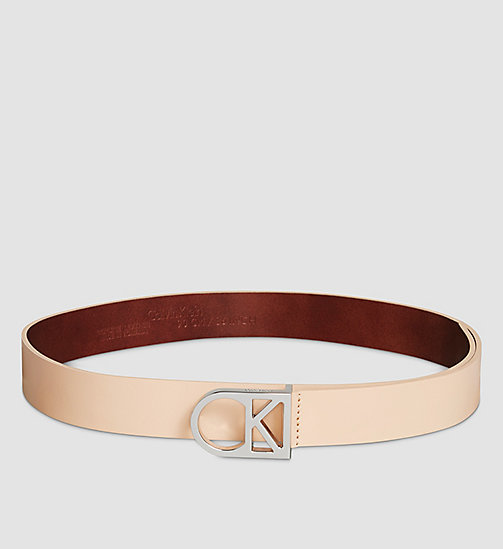 CALVINKLEIN Leather Logo Belt - VACCHETTA - CALVIN KLEIN BELTS - main image