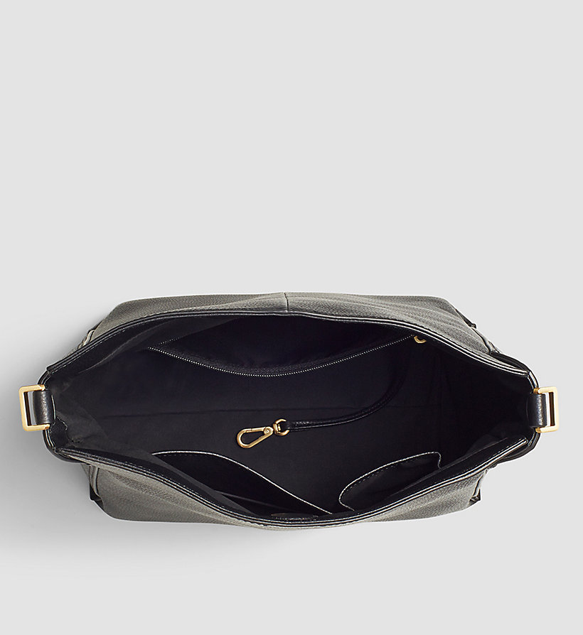 CALVINKLEIN Leather Hobo - BLACK - CALVIN KLEIN SHOES & ACCESSORIES - detail image 2