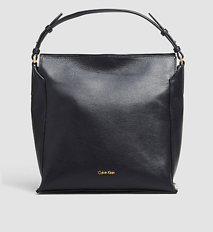 calvin klein leather hobo keyla k60k602146001. Black Bedroom Furniture Sets. Home Design Ideas
