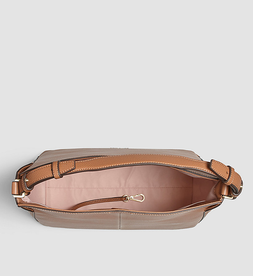 CALVINKLEIN Leather Hobo - CARAMEL - CALVIN KLEIN SHOES & ACCESSORIES - detail image 2
