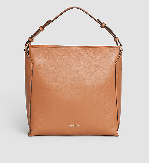 Leather Hobo - CARAMEL - CALVIN KLEIN  - main image