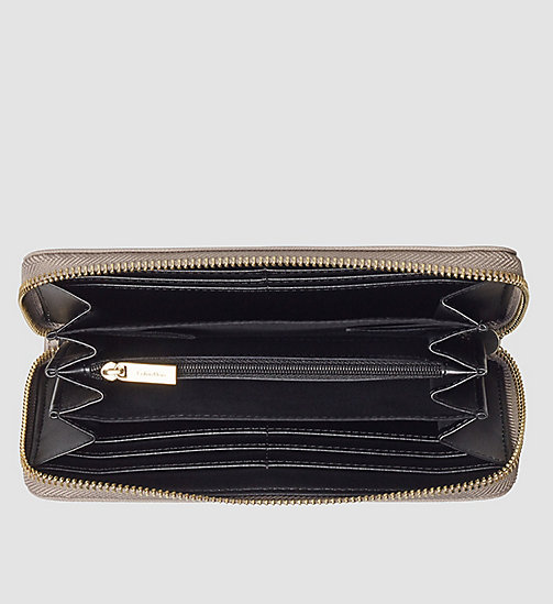Large Zip-Around Wallet - FUNGI - CALVIN KLEIN SHOES & ACCESSORIES - detail image 1