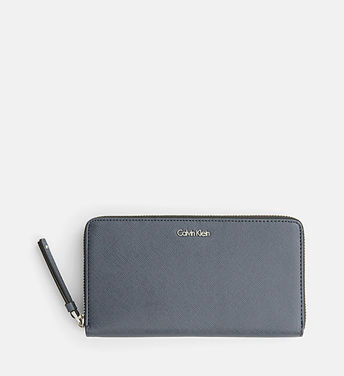 CALVINKLEIN Large Zip-Around Wallet - BLUE NIGHT - CALVIN KLEIN  - main image
