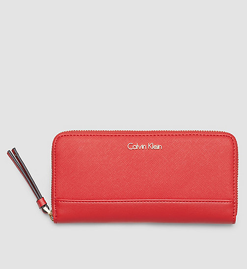 Large Zip-Around Wallet - LIPSTICK RED - CALVIN KLEIN SHOES & ACCESSORIES - main image
