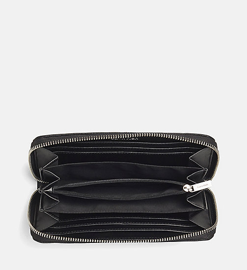Large Zip-Around Wallet - BLACK - CALVIN KLEIN  - detail image 1