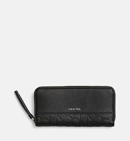 Large Zip-Around Wallet - BLACK - CALVIN KLEIN  - main image