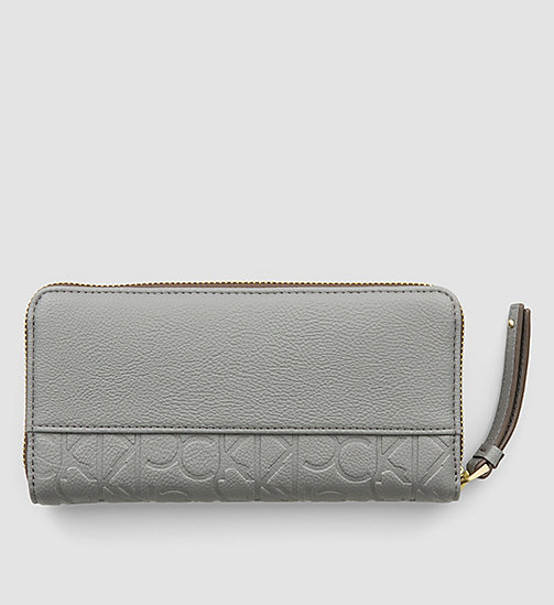 Large Zip-Around Wallet - STEEL GREY - CALVIN KLEIN  - detail image 1