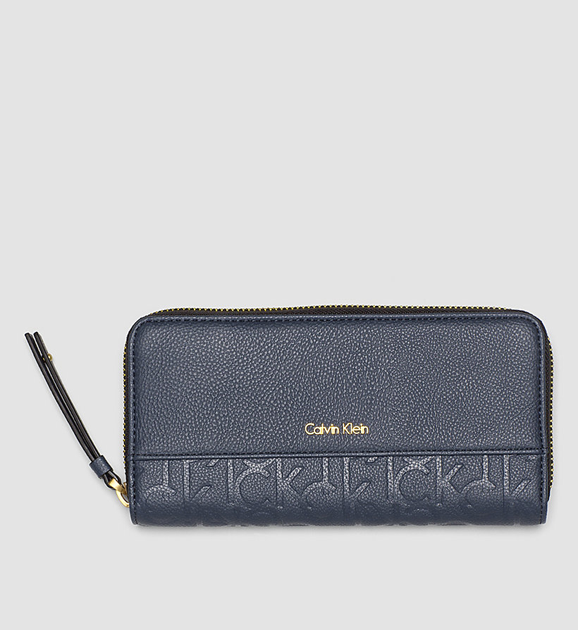 CALVINKLEIN Large Ziparound Wallet - OMBRE BLUE - CALVIN KLEIN SHOES & ACCESSORIES - main image