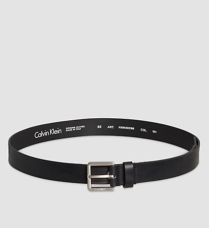 CALVIN KLEIN Leather Belt - Eyelet K60K602166001