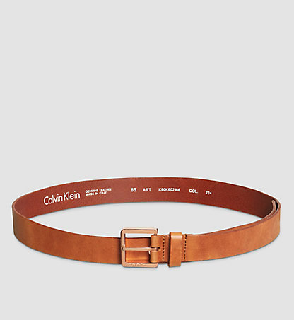 CALVIN KLEIN Leather Belt - Eyelet K60K602166224