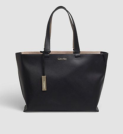 CALVIN KLEIN Leather Tote Bag - Julia K60K602177001
