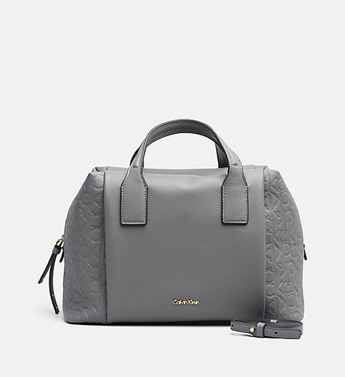 CALVINKLEIN Logo Duffle Bag - STEEL GREY - CALVIN KLEIN SHOES & ACCESSORIES - main image