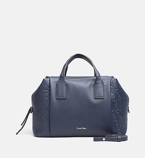 CALVINKLEIN Logo Duffle Bag - BLUE NIGHT - CALVIN KLEIN SHOES & ACCESSORIES - main image