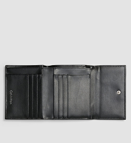 CALVINKLEIN Medium Trifold Wallet - BLACK - CALVIN KLEIN WALLETS - detail image 1