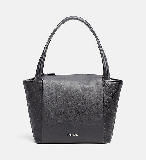 Medium Logo Tote Bag - BLACK - CALVIN KLEIN  - main image