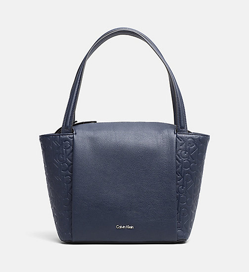 Borsa tote media con logo - BLUE NIGHT - CALVIN KLEIN  - immagine principale