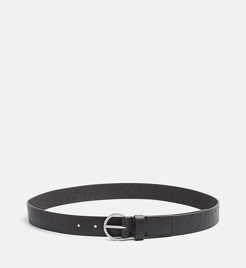CALVINKLEIN Leather Logo Belt - BLACK - CALVIN KLEIN SHOES & ACCESSORIES - main image