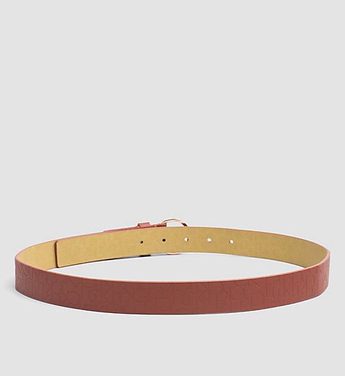 Leather Logo Belt - HENNA - CALVIN KLEIN  - detail image 1