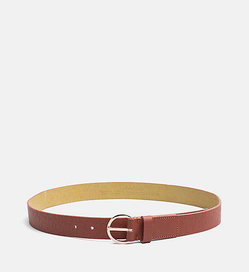 Leather Logo Belt - HENNA - CALVIN KLEIN  - main image