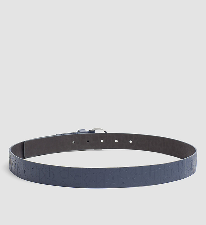 CALVINKLEIN Leather Logo Belt - BLUE NIGHT - CALVIN KLEIN SHOES & ACCESSORIES - detail image 1