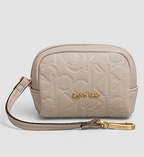 CALVINKLEIN Coin Pouch - MUSHROOM - CALVIN KLEIN SMALL ACCESSORIES - main image