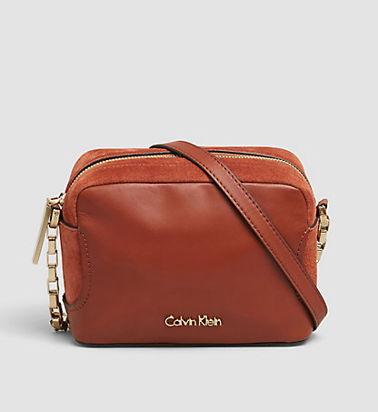 CALVIN KLEIN Suede/Leather Mini Crossover - Carolyn K60K602338226