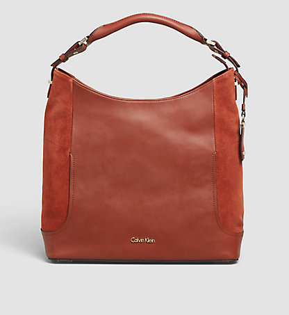 CALVIN KLEIN Suede/Leather Hobo - Carolyn K60K602344226