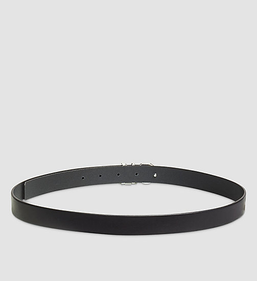 CALVINKLEIN Leather CK Buckle Belt - BLACK - CALVIN KLEIN BELTS - detail image 1