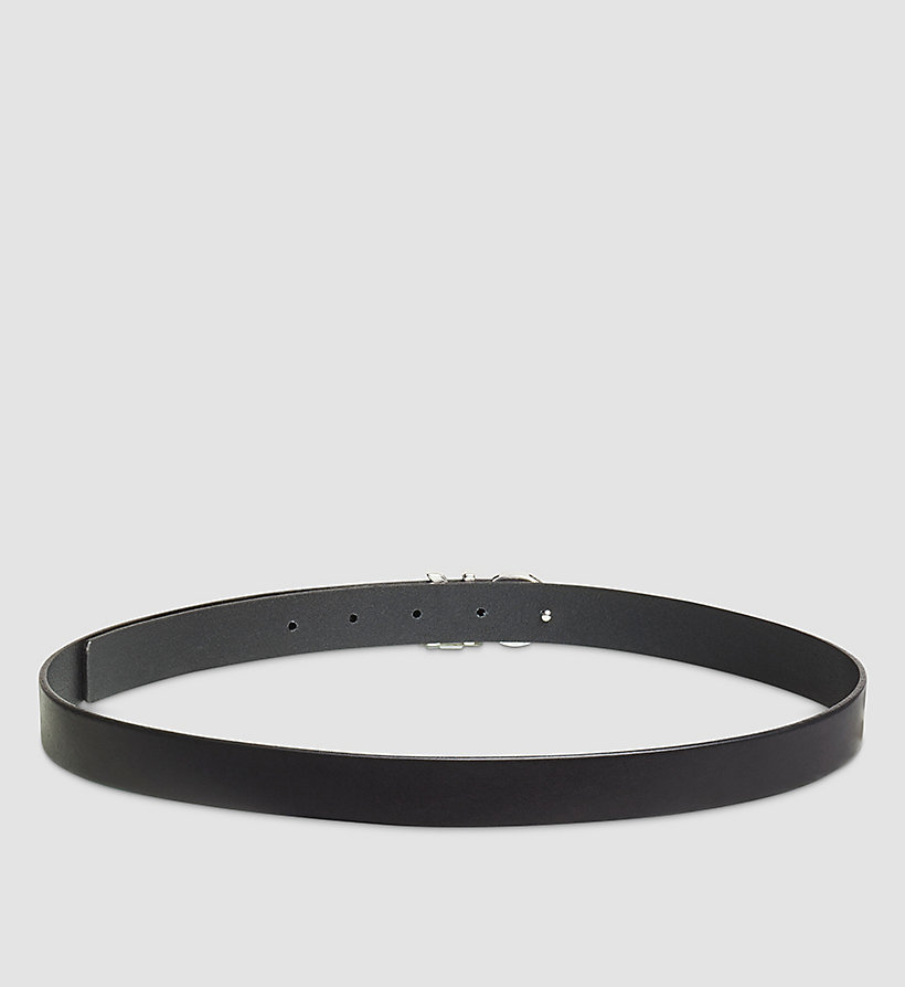 CALVINKLEIN Leather CK Buckle Belt - BLACK - CALVIN KLEIN SHOES & ACCESSORIES - detail image 1