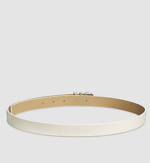 Leather CK Buckle Belt - POWDER WHITE - CALVIN KLEIN  - detail image 1