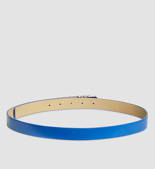 Leather CK Buckle Belt - DAZZLING BLUE - CALVIN KLEIN  - detail image 1