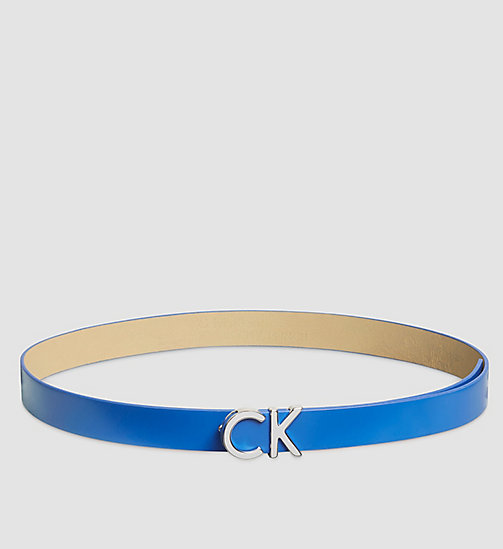 Leather CK Buckle Belt - DAZZLING BLUE - CALVIN KLEIN  - main image