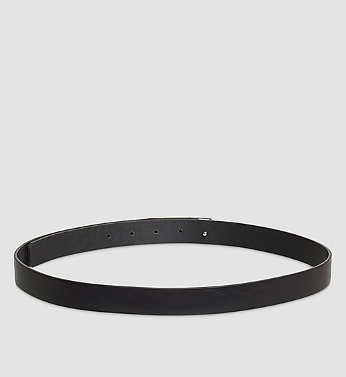 Leather Curved Plaque Belt - BLACK - CALVIN KLEIN  - detail image 1