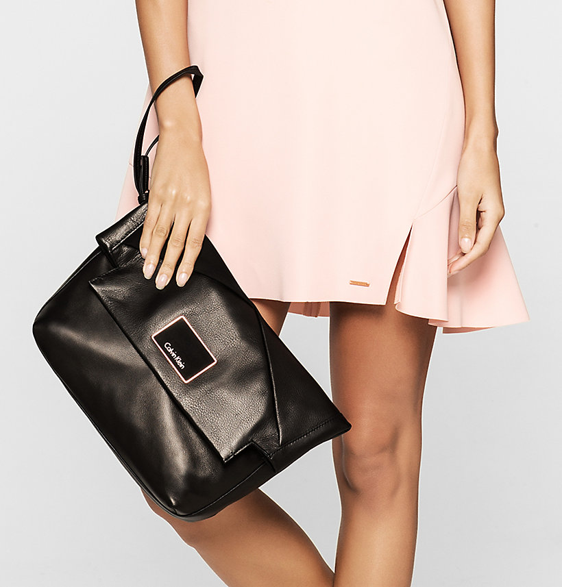 CALVINKLEIN Leather Clutch - FRAPPE - CALVIN KLEIN SHOES & ACCESSORIES - detail image 1