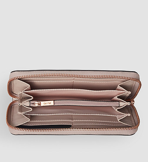 CALVINKLEIN Leather Ziparound Wallet - FRAPPE - CALVIN KLEIN WALLETS - detail image 1