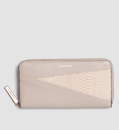 CALVINKLEIN Leather Ziparound Wallet - FRAPPE - CALVIN KLEIN WALLETS - main image