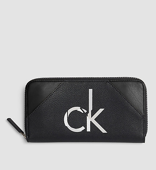 Ziparound Wallet - BLACK/BLACK - CALVIN KLEIN SHOES & ACCESSORIES - main image