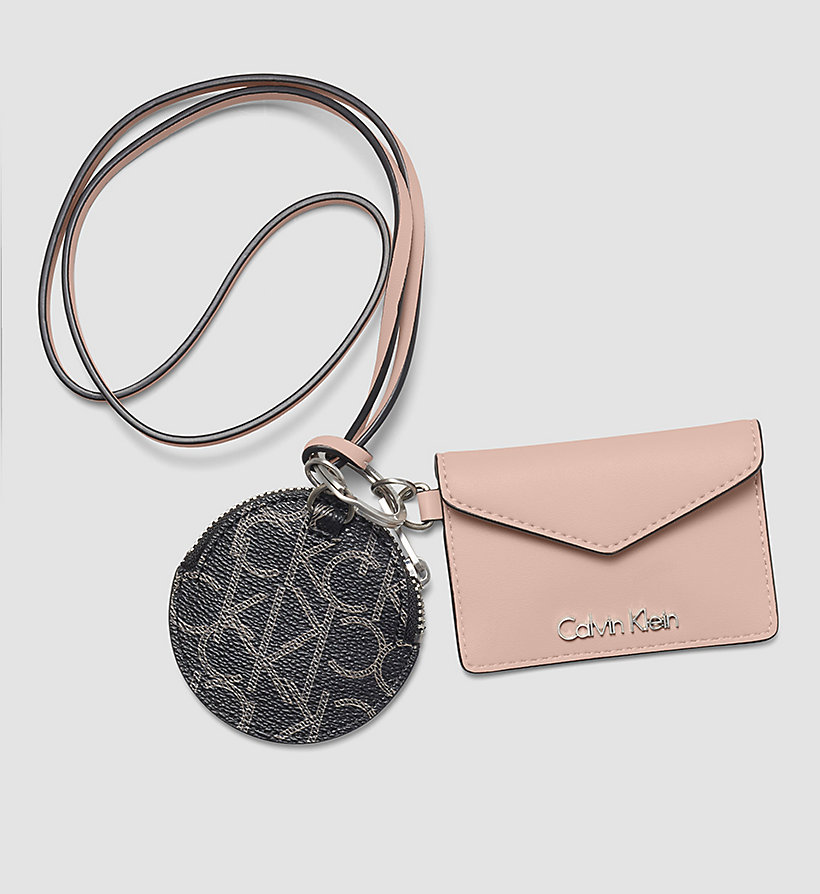 CALVINKLEIN Cardholder and Bag Charm Gift Box - BLACK/SOFT PINK - CALVIN KLEIN SHOES & ACCESSORIES - main image