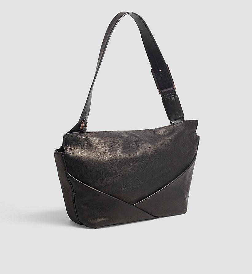 leather satchel black calvin klein women detail image 2. Black Bedroom Furniture Sets. Home Design Ideas