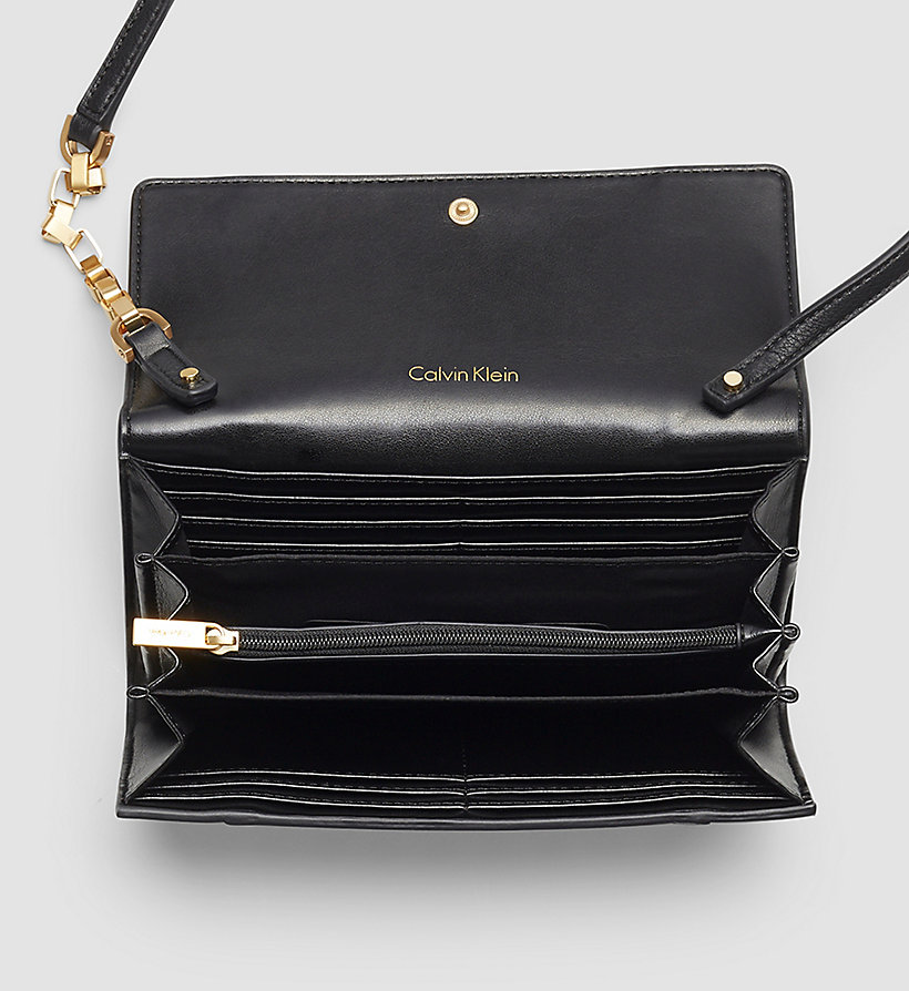 CALVINKLEIN Trifold Wallet On Chain - BLACK - CALVIN KLEIN SHOES & ACCESSORIES - detail image 1