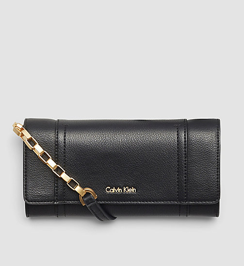 CALVINKLEIN Trifold Wallet On Chain - BLACK - CALVIN KLEIN WALLETS - main image