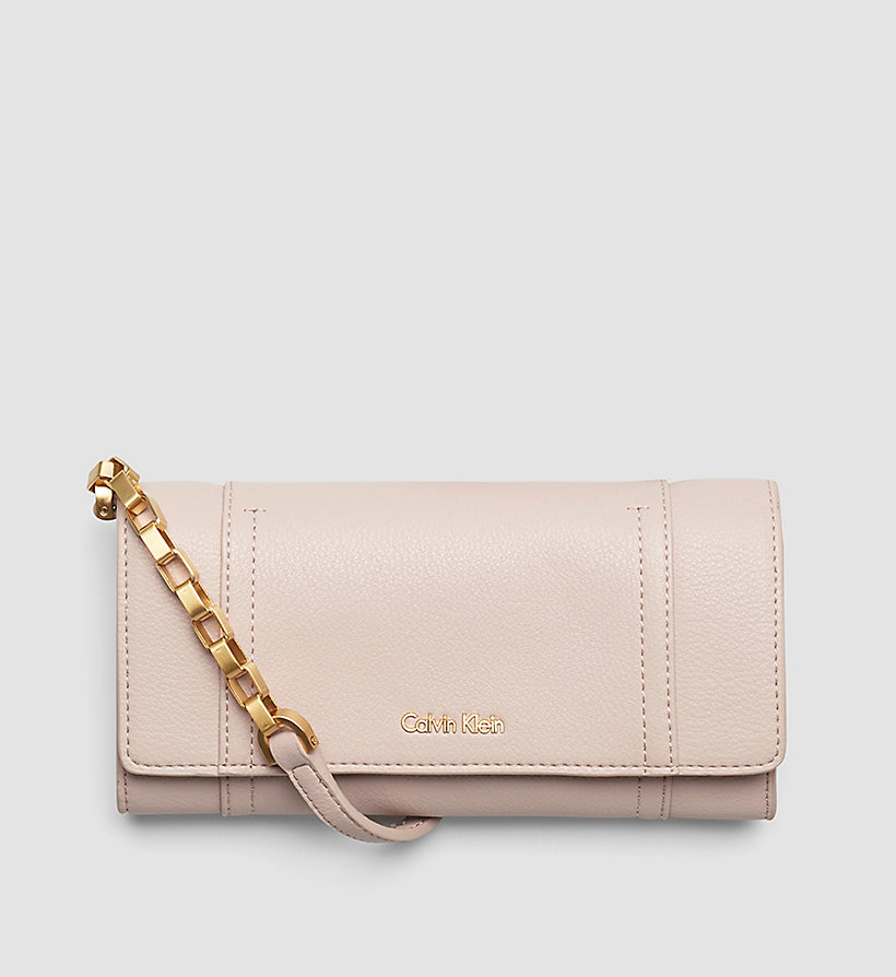 CALVINKLEIN Trifold Wallet On Chain - FRAPPE - CALVIN KLEIN SHOES & ACCESSORIES - main image