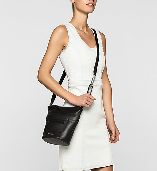 Small Elongated Bucket Bag - BLACK - CALVIN KLEIN  - detail image 1