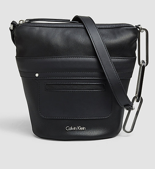 Small Elongated Bucket Bag - BLACK - CALVIN KLEIN  - main image