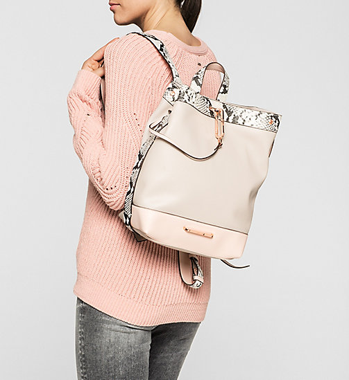 CALVINKLEIN Snake Trim Backpack - MUSHROOM - CALVIN KLEIN BACKPACKS - detail image 1