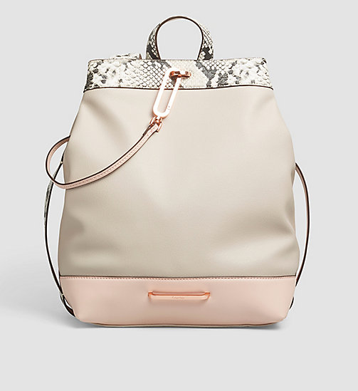 CALVINKLEIN Snake Trim Backpack - MUSHROOM - CALVIN KLEIN BAGS - main image