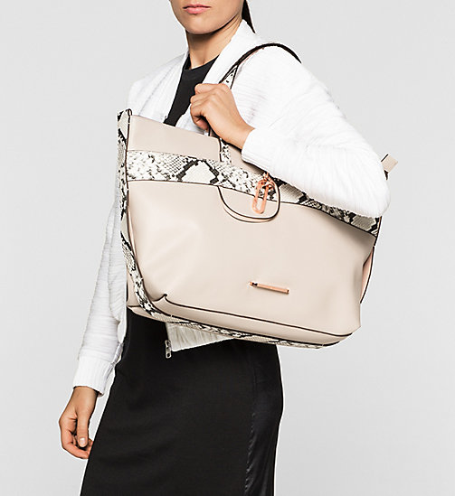 CALVINKLEIN Snake Trim Tote Bag - MUSHROOM - CALVIN KLEIN Up to 50% - detail image 1