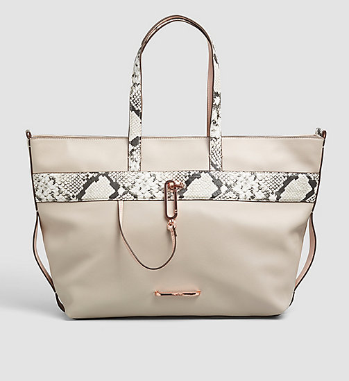 CALVINKLEIN Snake Trim Tote Bag - MUSHROOM - CALVIN KLEIN Up to 50% - main image
