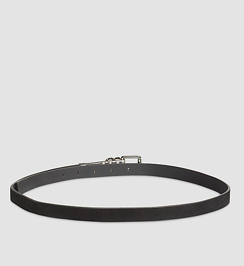 CALVINKLEIN Leather Roller Buckle Belt - BLACK - CALVIN KLEIN BELTS - detail image 1