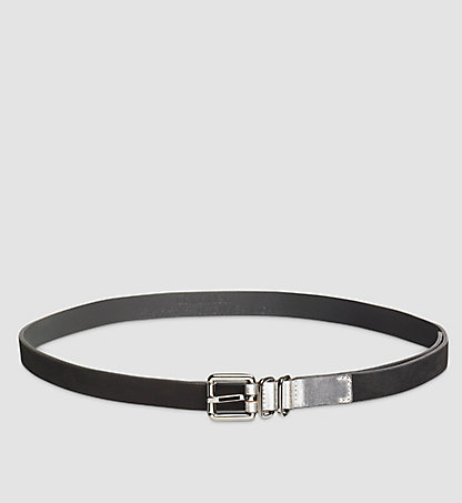 CALVIN KLEIN Leather Roller Buckle Belt K60K602453001